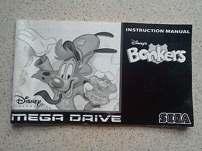Disney's Bonkers Manual - Sega Mega Drive - NO GAME MANUAL ONLY (PAL)
