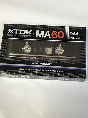 VINTAGE TDK MA-X 60 Type IV METAL Position Bias Tape NEW SEALED JAPAN 1982
