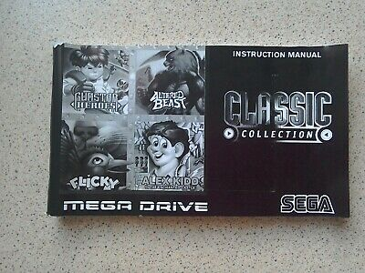 Classic Collection Manual - Sega Mega Drive - NO GAME MANUAL ONLY (PAL)
