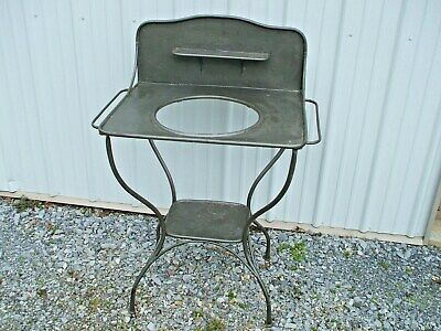 Antique Metal Wash Stand Shabby Chic French? Farmhouse