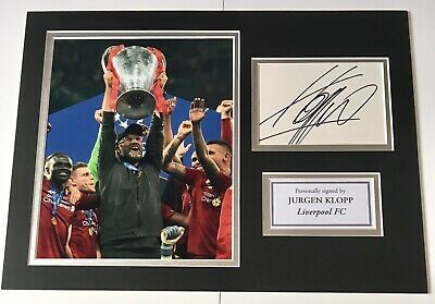 Jurgen Klopp Liverpool FC Hand Signed Fully Mounted Display Champions League 19