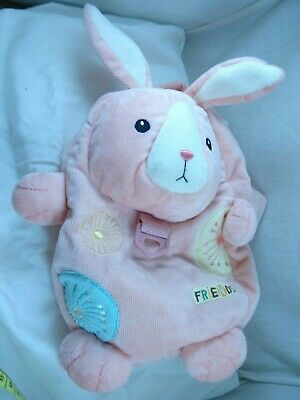 MeToo Friends Bunny Rabbit Plush Harness backpack Pink Cuordory