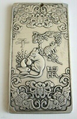 Chinese Zodiac Plaque, Year Of The Rat, Silver Marks?