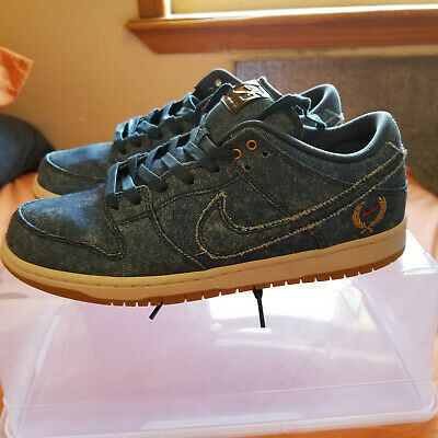 online store 2adba 93f1e Nike SB Dunk Low 10.5 Mens TRD QS Blue Denim Biggie Tupac Rivals Notorious  BIG