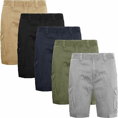 New Mens Ex-Store Hiker Cotton Cargo Combat Twill Bermuda Shorts Relaxed Fit