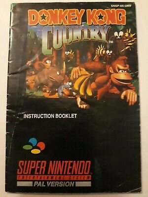Instruction Booklet manual Donkey Kong Country  Nintendo SNES (1994) SNSP-8X-UKV