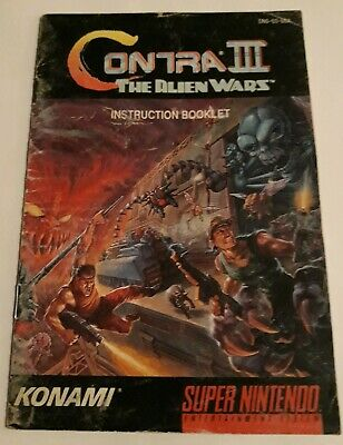 Contra III The Alien Wars SNES Instruction Booklet Manual NTSC USA