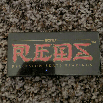 Bones Reds Skateboard Bearings 8mm Size 608 8 Pack Spacers AND RED T-TOOL
