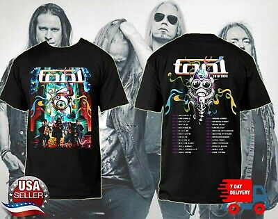 TOOL Band 2019 Tour With Dates T-Shirt Rock Music Shirt Black Cotton Tee S-6XL