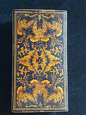Fabulous small antique micro-mosaic stamp box. Possibly Italian/ Sorrento??