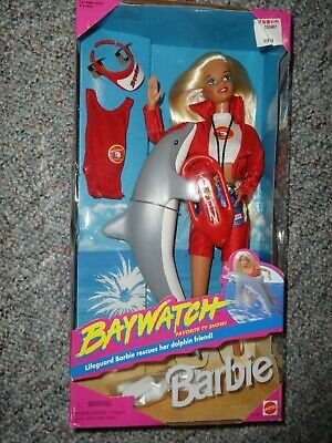 Mattel Baywatch Barbie w/ Dolphin Friend 1994 Doll **NEW**
