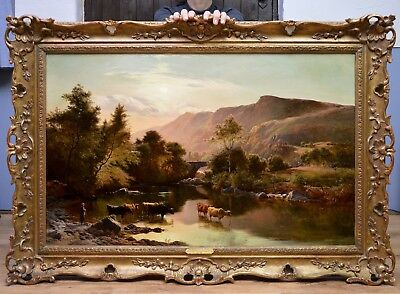 Extremely Fine Large Original Antique 19thC Oil Painting by Sidney Richard Percy