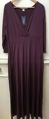084711aa2bf POSESHE WOMEN'S SOLID V-Neck 3/4 Sleeve Plus Size Evening Party Maxi ...