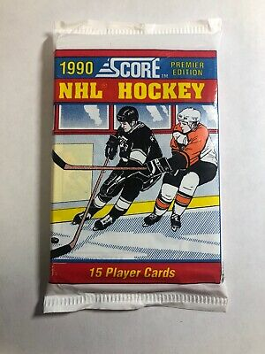 Factory Sealed 1990 Score Premier Edition Hockey Card Pack 15 Cards
