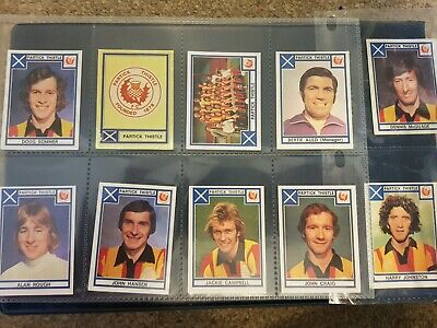 Panini Football 78 - Partick Thistle x 10 stickers - complete team set