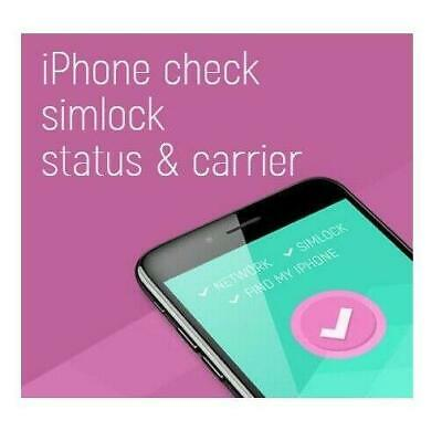 Carrier Simlock Info Check, Find My iPhone status Via IMEI - FAST