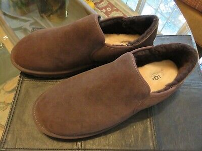 a22a1bb28f3 NEW MEN UGG 2019 Kenton Chocolate Sheepskin Suede Slippers Original 3010 Sz  17