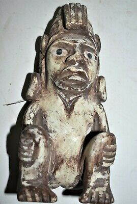 ORIG $1099 WOW! PRE COLUMBIAN MAYAN ALABASTER FIGURE 5in PROV