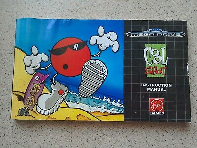 Cool Spot Manual - Sega Mega Drive - NO GAME MANUAL ONLY (PAL)
