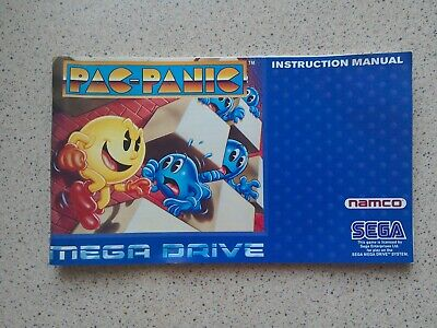 Pac-Panic Manual - Sega Mega Drive - NO GAME MANUAL ONLY (PAL)