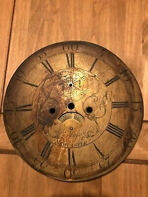Brass dial for restoration long case clock with date ring