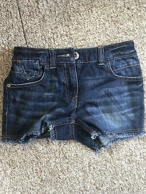 Next Girls Blue Denim Shorts Age 7-8 New Without Tags