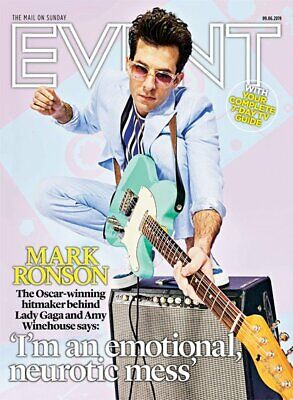 EVENT magazine 9th June 2019 Mark Ronson cover interview - Jason Donovan Madonna