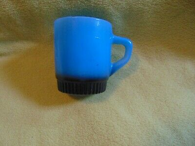 VTG Fire King Coffee Mug Cup Stacking Design D handle Blue fade to black