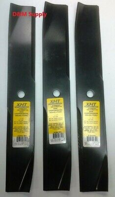 """set of 3 Gravely 60"""" Lawn Mower Blades 25124 046999 089046 89046 08904600"""