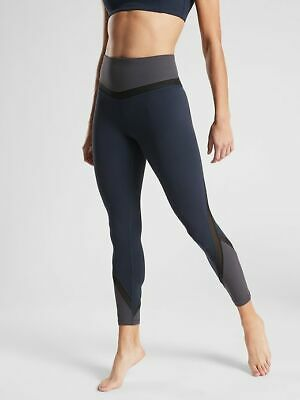 09174a0df0020 ATHLETA Elevation 7/8 Tight In Powervita #405641 Navy NWT sz Extra Small XS