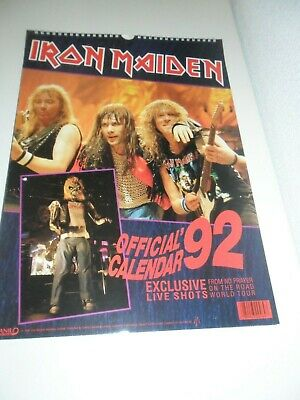 Iron Maiden 1992 Vintage Calendar Kalender Calendario Calendrier Photo Photos