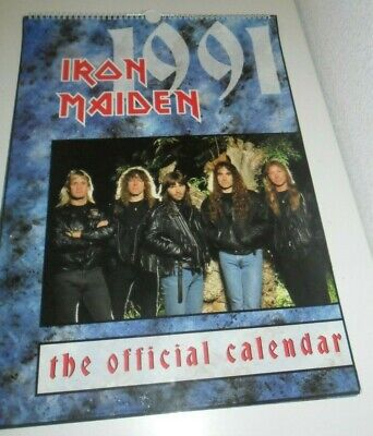 Iron Maiden 1991 Vintage Calendar Kalender Calendario Calendrier Photo Photos