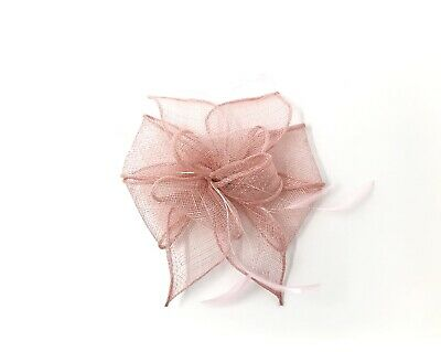 Pink Feather Fascinator Hair Clip Or Band Ladies Day Races Party Wedding