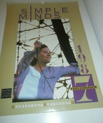 Simple Minds 1987 Vintage Calendar Kalender Calendario Calendrier Jim Kerr