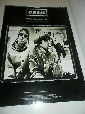 Oasis 1999 Calendar Kalender Calendario Calendrier Photos Noel Liam Gallagher