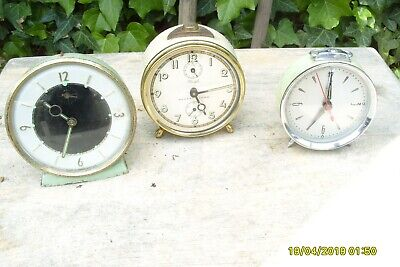 Clock Parts  3  Clocks  For  Parts  2 Working