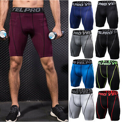 Mens Quick Dry Workout Gym Running Fitness Bottoms Sport Shorts Pants Activewear