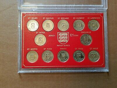 Jersey one pound coins collection set