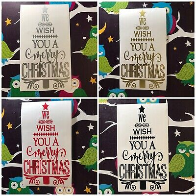 5 LAYERED /'We wish you a Merry Christmas/' BANNER TOPPERS