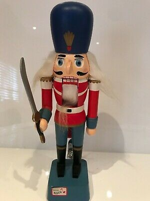 Vintage Christmas German Wooden Nutcracker  Soldier  With Music