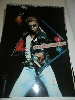 George Michael 1989 Calendar Kalender Calendario Calendrier WHAM! Photo Photos