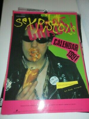 THE SEX PISTOLS CHAOS 1991 Calendar Kalender Calendario Calendrier Photo Vintage