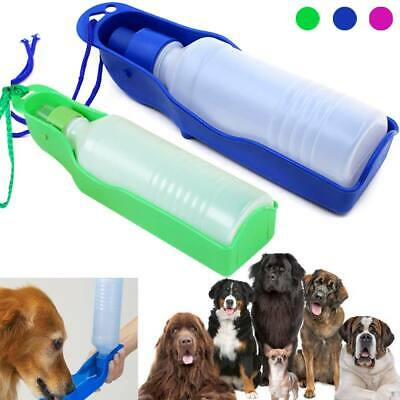 250ml/500ml Portable Outdoor Pet Dog Drink Bottle Travel Kettle Trumpet Groov SU