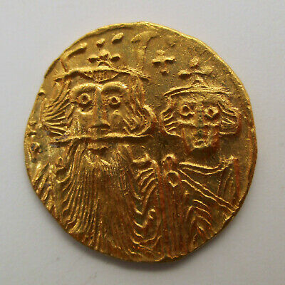641-668 Byzantine CONSTANS II Constantine IV Gold Coin SOLIDUS Ancient SEAR 971