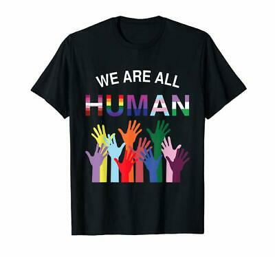 We are all Human flag LGBT gay pride month transgender T-Shirt