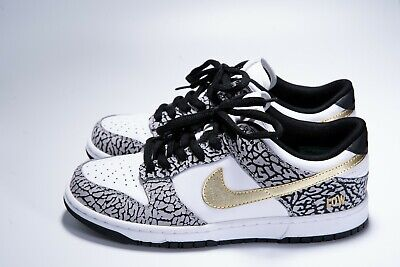 huge selection of 37f3c e1574 Nike ID Dunk Low Supreme Elephant Cement Print Custom White Gold VNDS 2013
