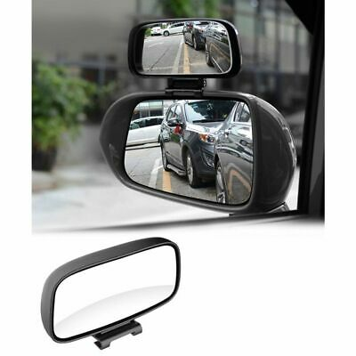 Car Blind Spot Mirror Auto Adjustable Rotation Rear View Mirror Wide Angle Lens