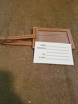 Vince Camuto Lether Luggage Tag