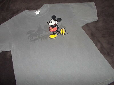 eb84c742f Mens L LG Official Walt Disney World MICKEY MOUSE Gray Tee T Shirt LARGE GC  SALE