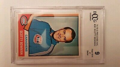 1974-75 O-Pee-Chee Opc Beckett Bccg 9 Near Mint Or Better Scotty Bowman Card#261